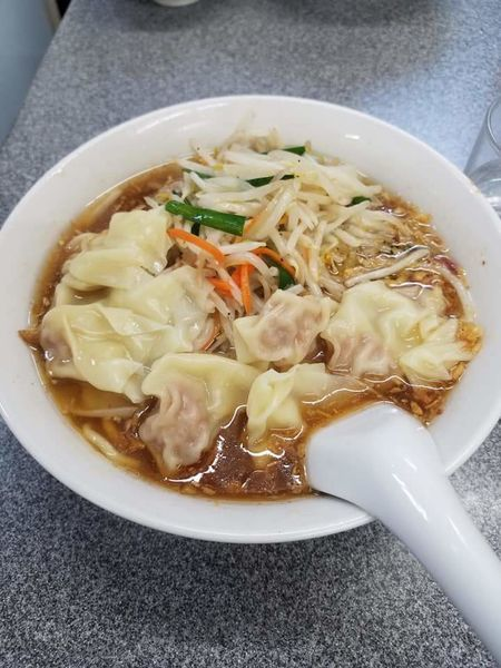 「もやしワンタン麺¥950」@喜楽の写真