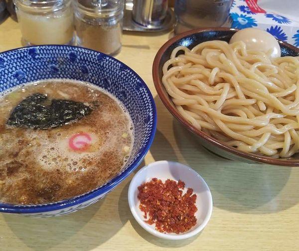 「味玉辛つけ麺¥1000」@くり山の写真
