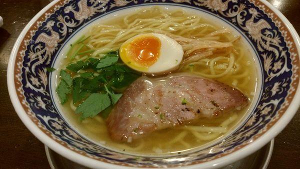 「柚子塩+真空平打ち麺」@中村屋の写真