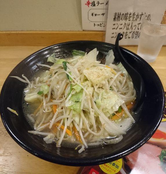 「たっぷり野菜の塩タンメン」@らーめん高橋の写真