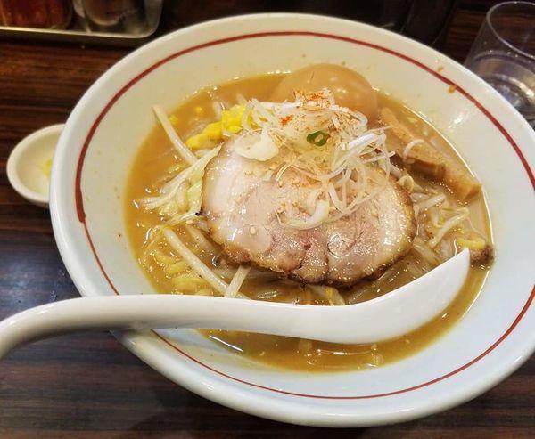 「あじ玉味噌ら~麺¥800」@らー麺 あけどやの写真