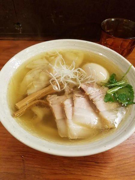 「特製塩らーめん¥980+炙り肉飯¥350」@純手打ち 麺と未来の写真