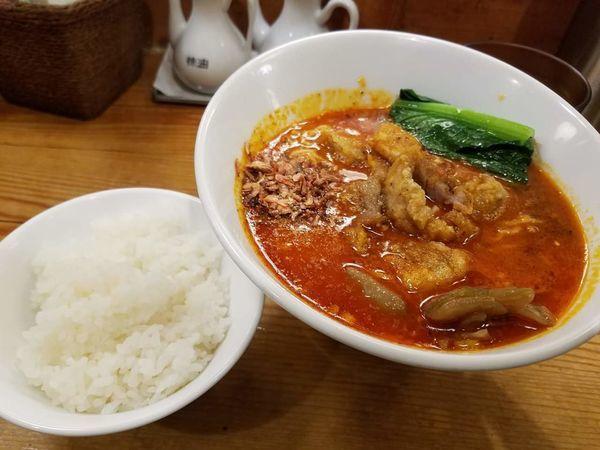 「排骨担々麺(大辛)¥990」@担々麺 ほおずきの写真