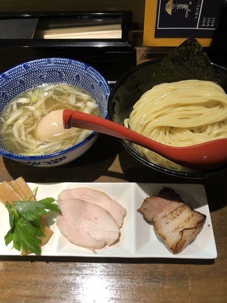 「味玉塩つけ麺中盛¥900」@麵屋 食べいろの写真