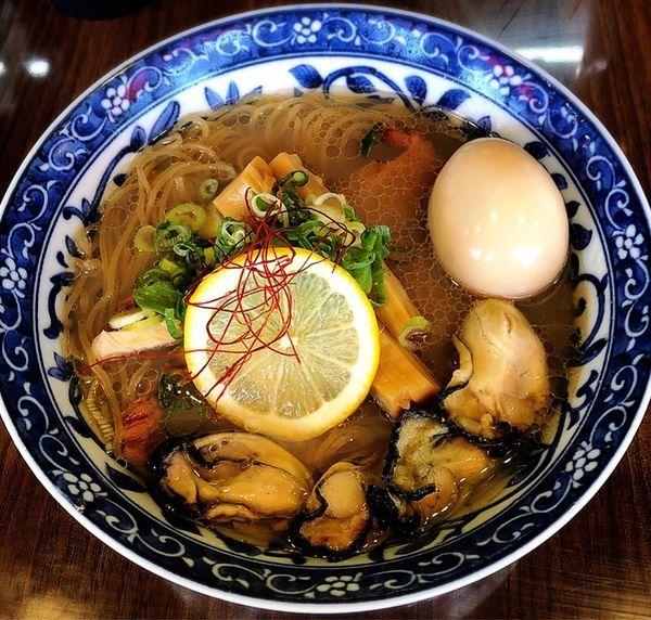 「牡蠣そば(味玉)」@寿製麺よしかわ 保谷店の写真