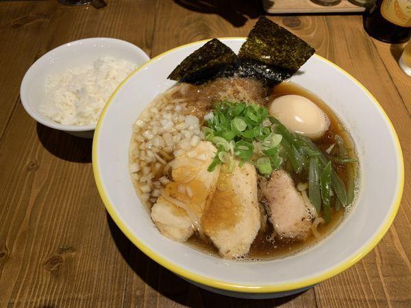 「追節中華そば750➕ランチ飯50=800円」@麺ヤ事業部 ブンキチの写真