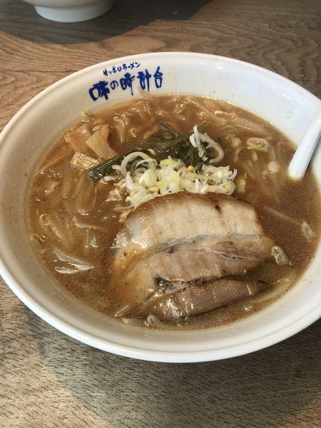 「味噌ラーメン」@味の時計台 筥松店の写真
