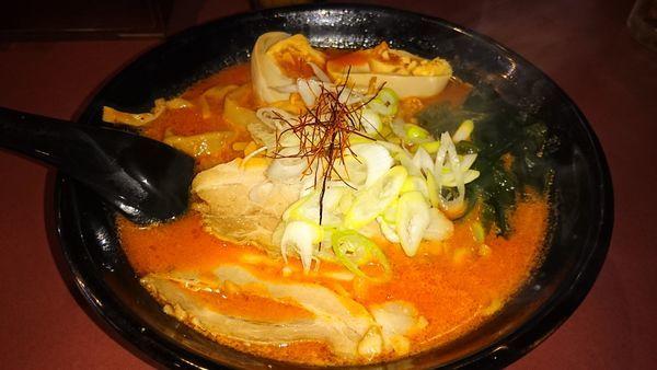 「鉄火麺 味玉 辛目」@北海道らーめん ひむろ 亀戸店の写真