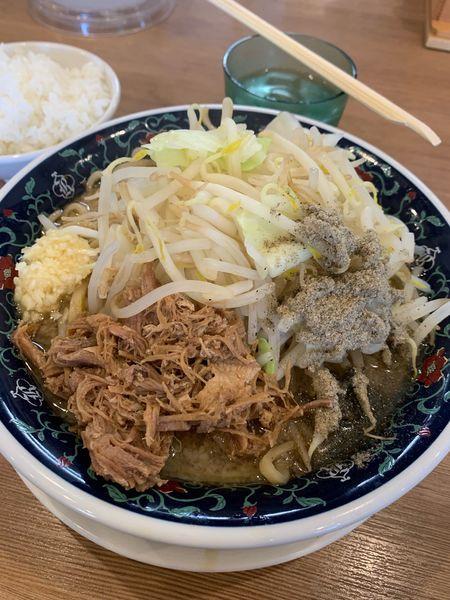「にぼ二郎 醤油 麺、野菜マシ」@凌駕 IDÉAの写真