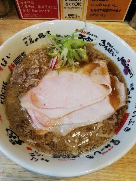 「鯖背脂中華そば」@福島壱麺の写真