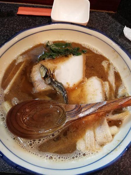 「かけ」@烈志笑魚油 麺香房 三くの写真