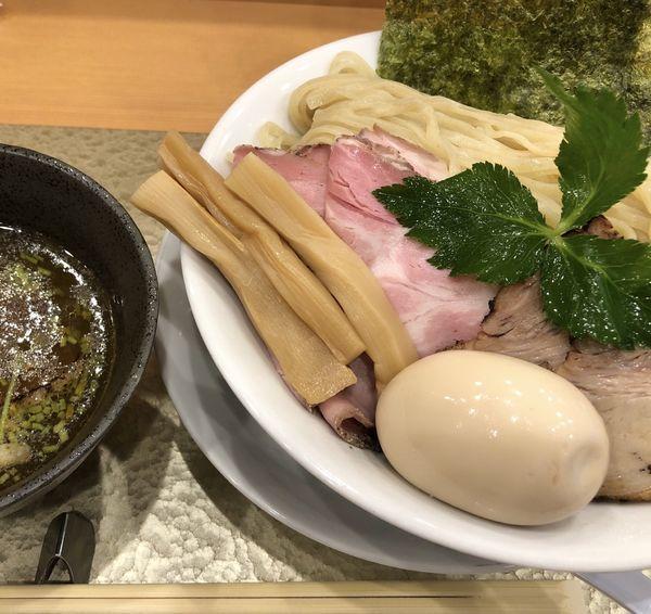 「特製黄金貝つけ麺」@なにわ麺次郎の写真