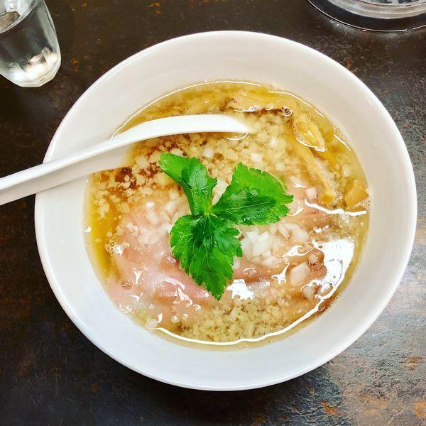 「限定 イベリコ豚の背脂焼豚煮干蕎麦」@神保町黒須の写真