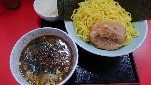 「つけ麺(2玉)、のり」@とんこつラーメン松平 六浦店の写真