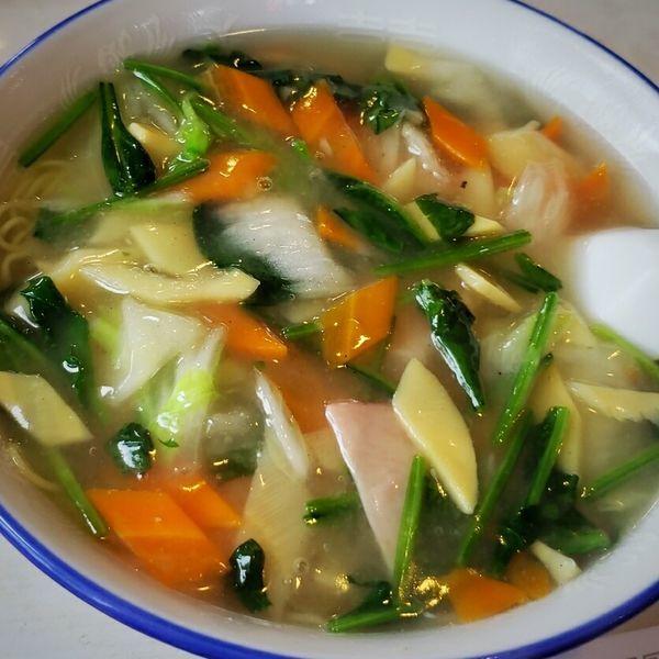 「蝦仁湯麺 650円」@中国料理 別館 中島屋の写真