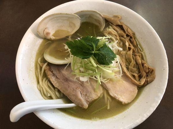 「貝塩拉麺大盛り」@麺屋 心羽の写真