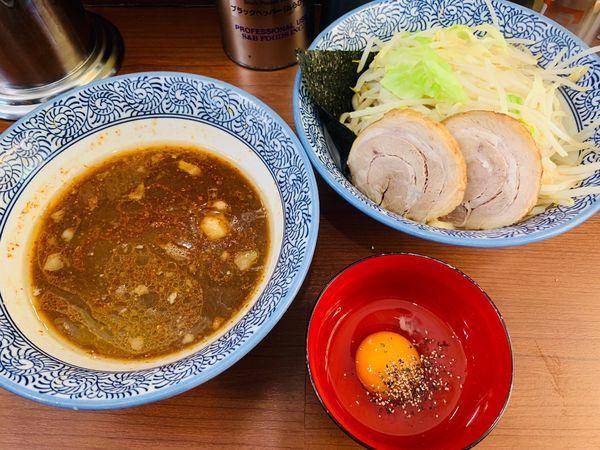 「ミニマムつけ麺+生卵」@松木田田の写真