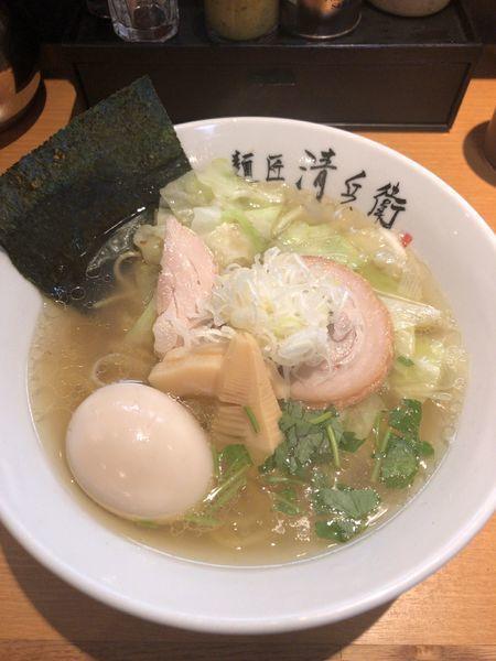 「淡麗そば+野菜」@麺匠 清兵衛の写真