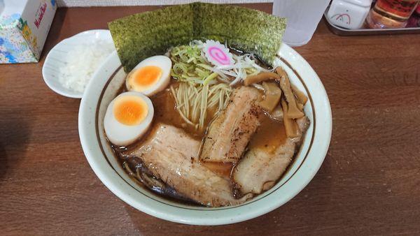 「魚介醤油ラーメン 730円 + 賄いチャーシュー丼 280円」@麺屋こうきの写真