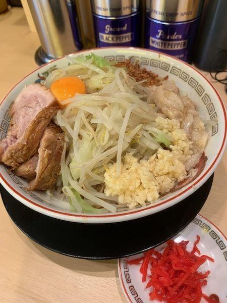 「小780円 汁なし変更100円」@ラーメン豚山 中野店の写真