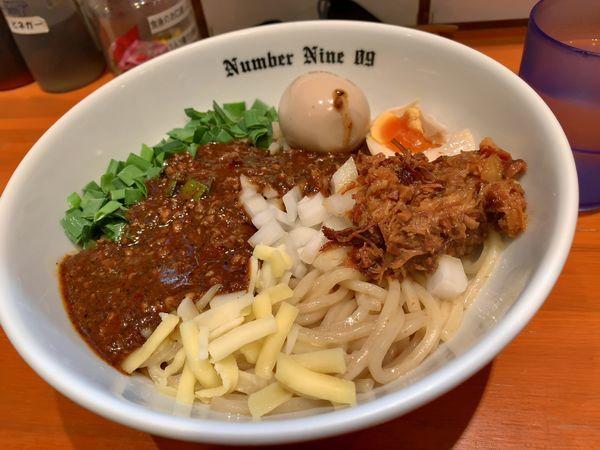 「油そばブラック+味玉」@麺Dining Number Nine 09の写真