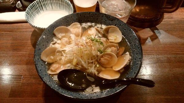 「はまぐりラーメン¥980-+生ビール¥420-」@和風楽麺 四代目 ひのでやの写真