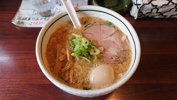 「みそ味玉らーめん 750円 + ちゃーしゅー丼 250円」@麺屋 旬の写真