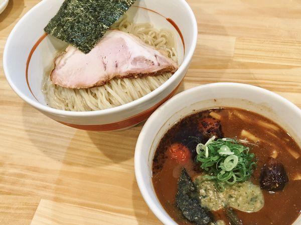 「☆赤味噌つけ麺☆」@川の先の上の写真