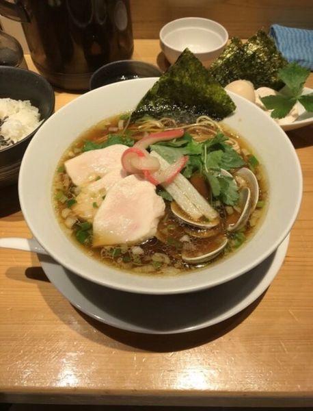 「特製蛤SOBA」@Ginza Noodles むぎとオリーブの写真