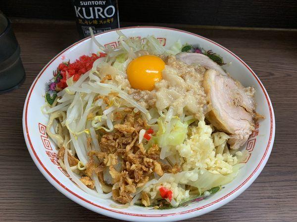「小豚 汁なし ニンニクアブラベニ」@ラーメン二郎 横浜関内店の写真