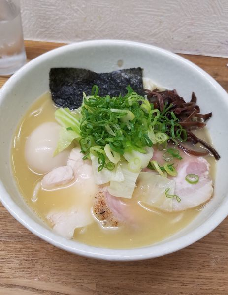 「特製鶏白湯塩ラーメン¥1000+本日の気まぐれご飯¥350」@麺や 福一の写真