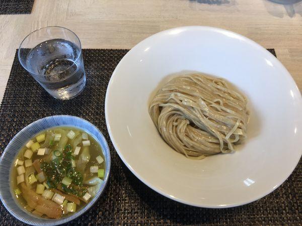 「鶏としじみの塩つけ麺+ワンタン」@宍道湖しじみ中華蕎麦 琥珀の写真