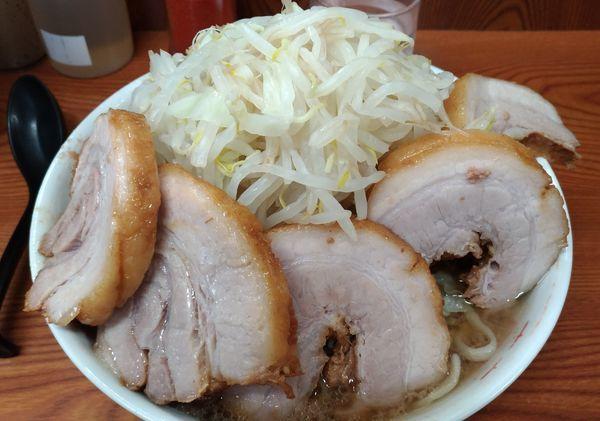 「豚入りラーメン野菜増し+生姜」@ラーメン二郎 亀戸店の写真