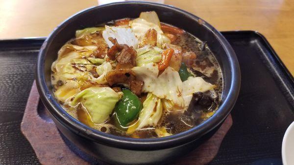 「石鍋ラーメン」@中華料理 唐坊 清水店の写真