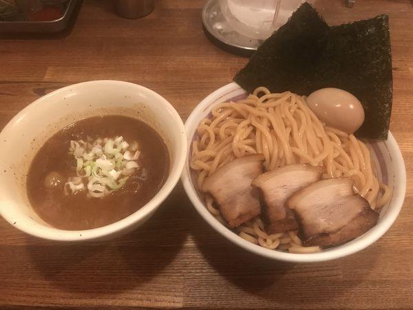 「つけそば濃厚豚骨醤油大盛・特製」@吉田製麺店の写真