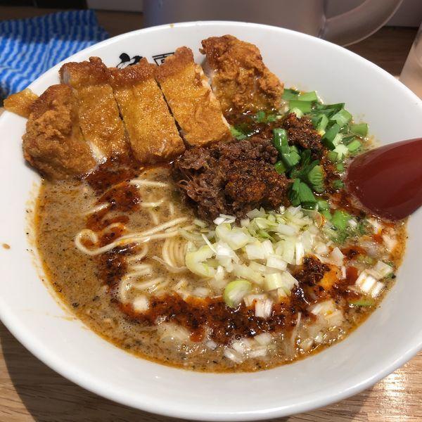 「パーコー担々麺」@ごま麺 鉢と棒の写真