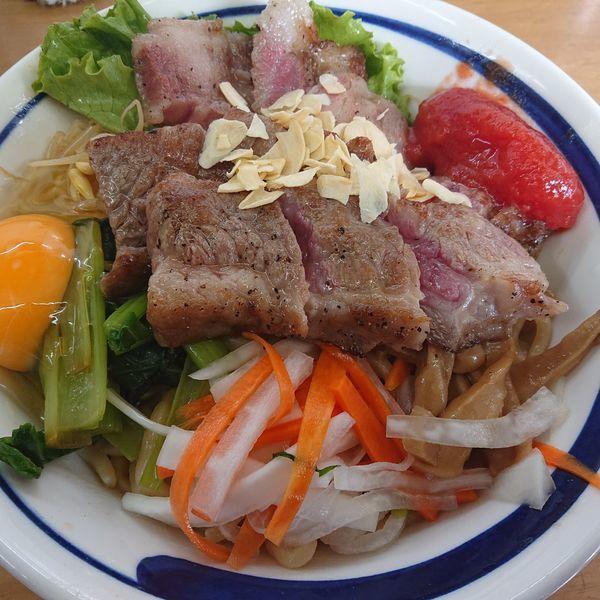 「限定S 手作り牛脂で和牛和え蕎麦和牛増し増し3000円」@MENYA 食い味の道有楽の写真
