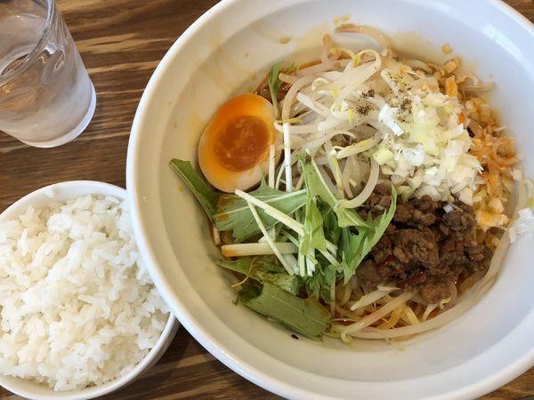 「汁なし担々麺(温) ¥850」@Chinese Dining 胡食 ~kokuu~の写真