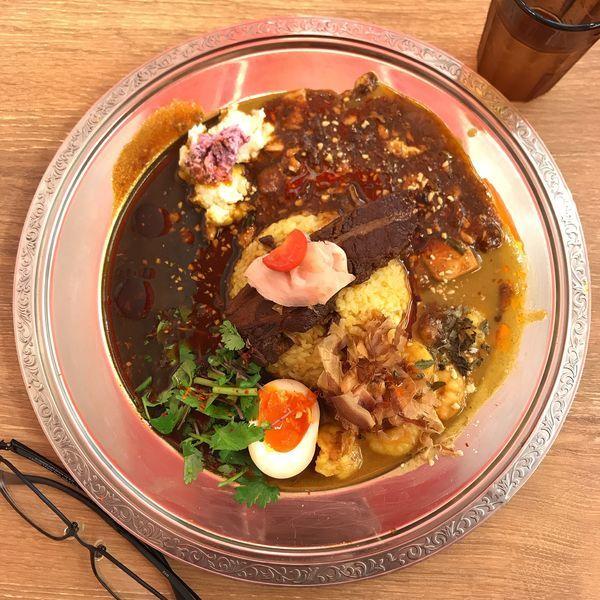「3種あいがけ咖喱」@スパイス食堂 サワキチ 東京築地店の写真