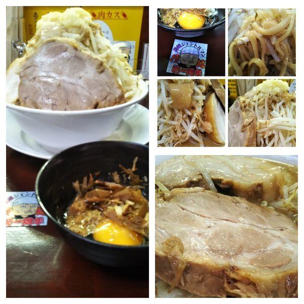 「【1周年限定】ダブルチャーシュー麺(野菜増し大蒜油生姜」@僕との麺の写真