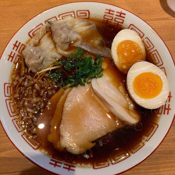 「特製醤油1000円+肉飯300円。」@名嘉の中華そば店の写真