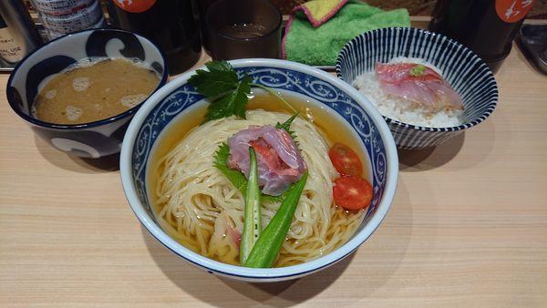 「金目鯛のつけそば1000+大盛100」@寿製麺 よしかわ 西台駅前店の写真