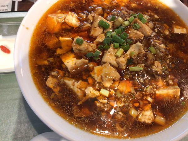 「ランチセット:麻婆湯麺850円辛く」@中國酒家 桜乃恵の写真