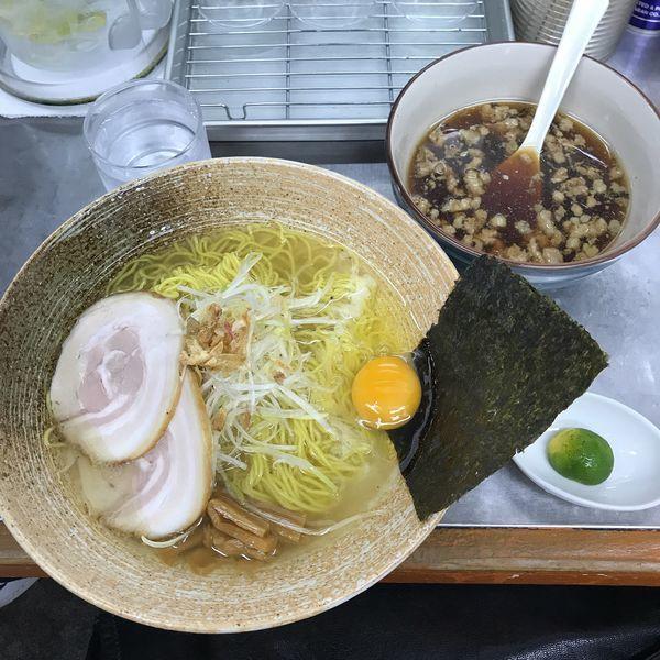 「秋刀魚出汁つけそば(熱) 正油」@覆麺 智の写真
