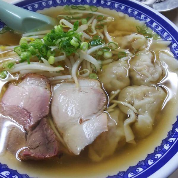 「ワンタン麺 750円」@食堂 ほうらくの写真