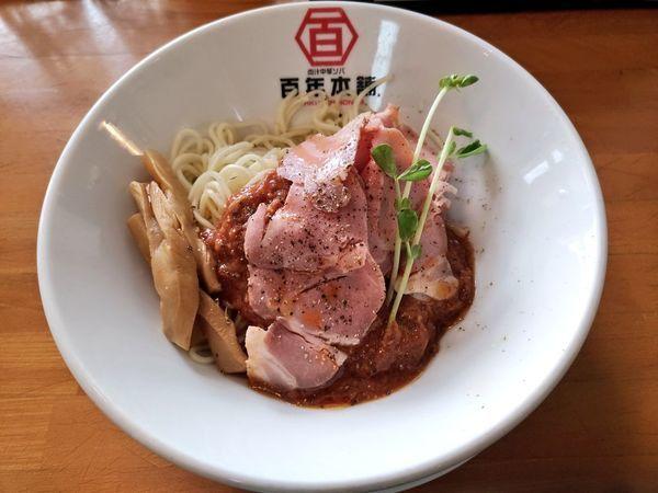 「ラーメンshow限定 サバ味噌香る夏のトマト冷麺」@百年本舗 沖縄浦添店の写真
