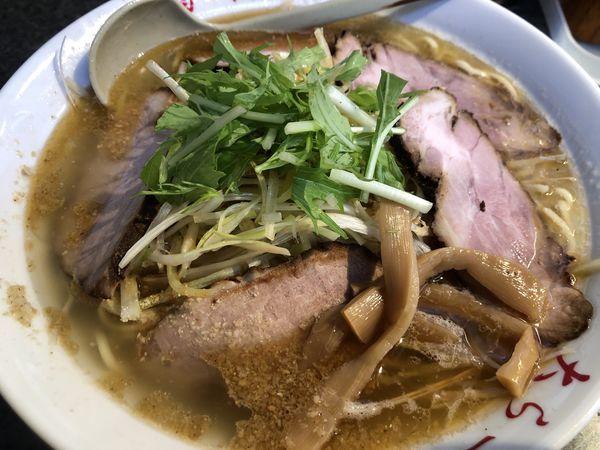 「ネギ塩チャーシュー麺(大盛)」@大らーめん 福籠の写真
