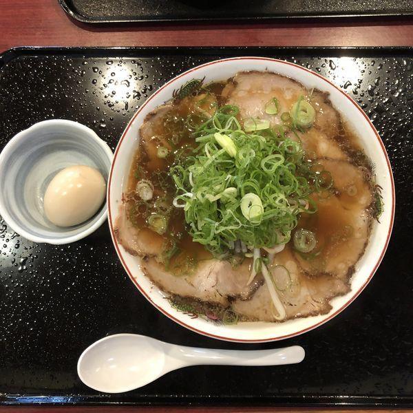 「中華そば 麺かため 味玉トッピング」@中華そば 焼きめし やま本の写真