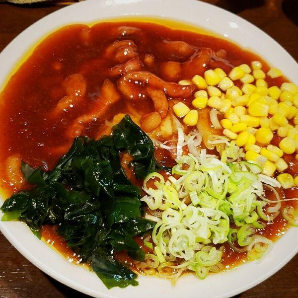 「【限定】豚スタミナ冷やし(中)950円」@麺屋 天海の写真