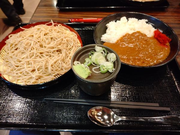 「カレーセット(冷たいそば)700円」@そば三昧 高崎店の写真